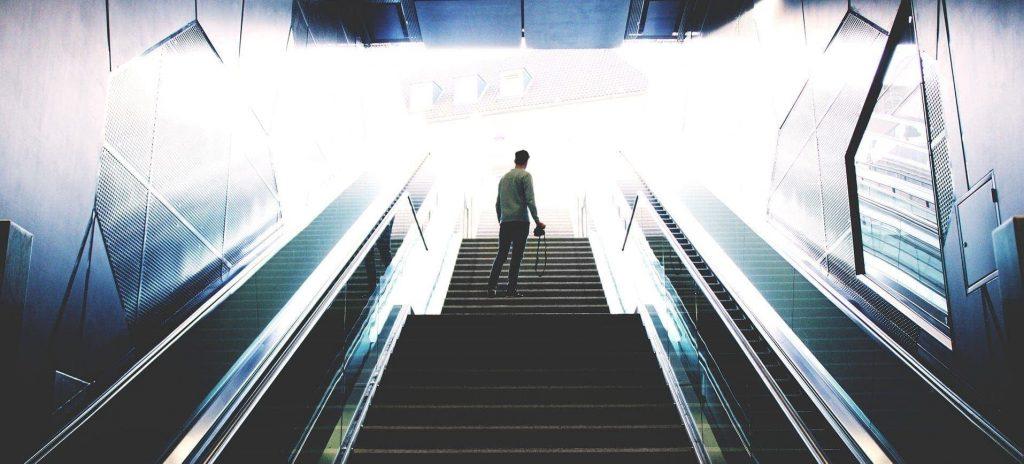 Subway escalator