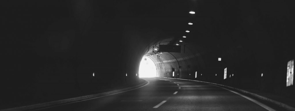 Accident in tunnel