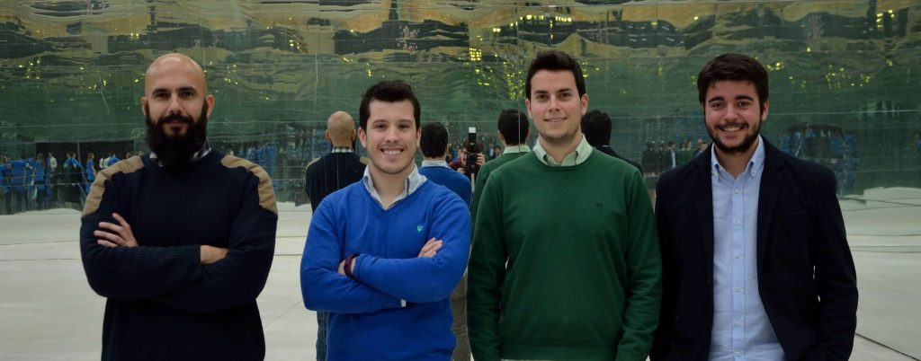 Photo of the Secmotic team, winners of the Build Up! Initiative of Ferrovial