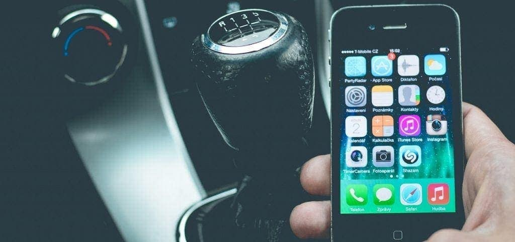 connected car and a smartphone