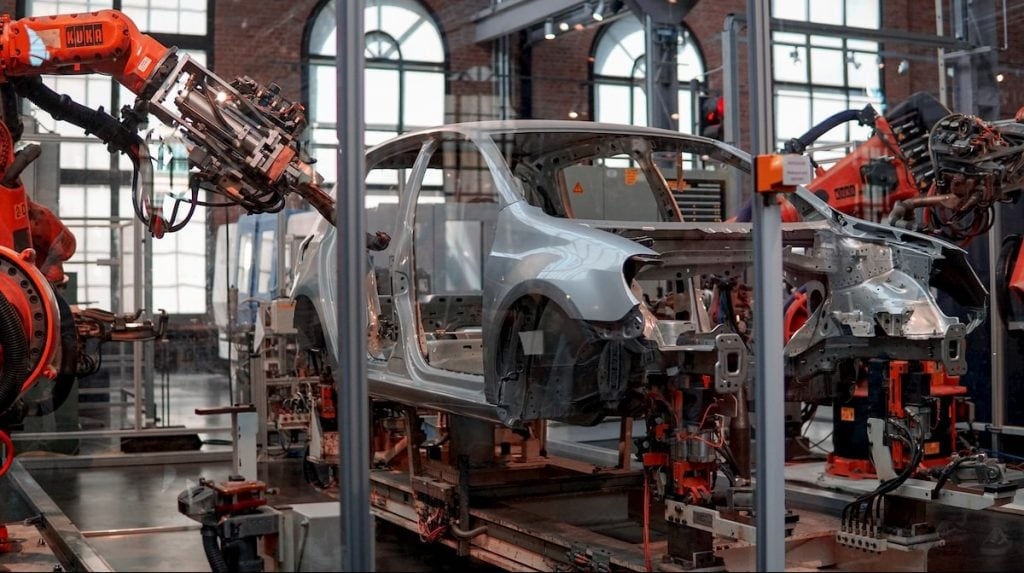 frabricación robótica de automóviles
