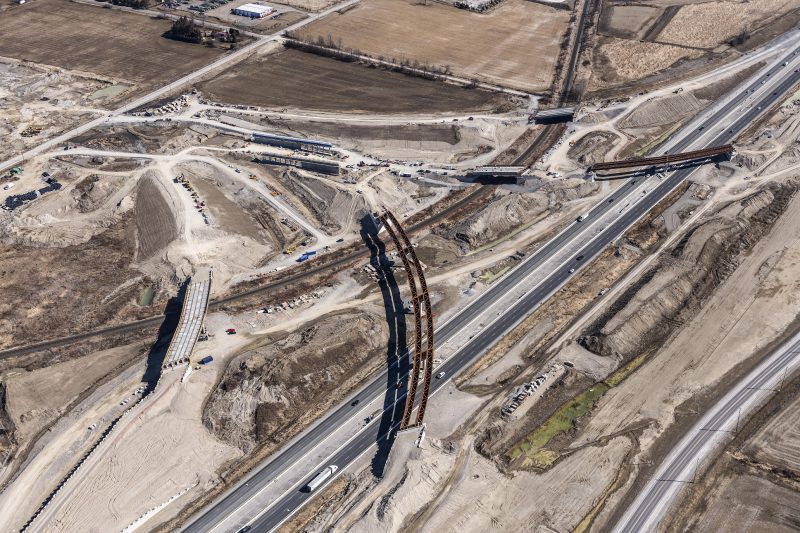 Construction of the 407 East Phase 2