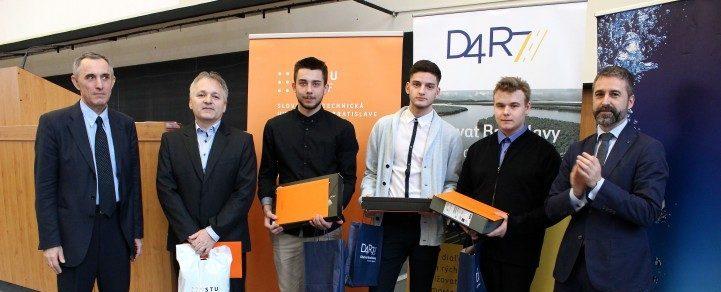 Ganadores del premio de ingeniería civil para estudiantes 2018 en la Universidad de Tecnología de Eslovaquia