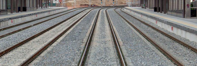 Vías del AVE construidas por Ferrovial