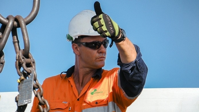 A Broadspectrum worker gives the all clear