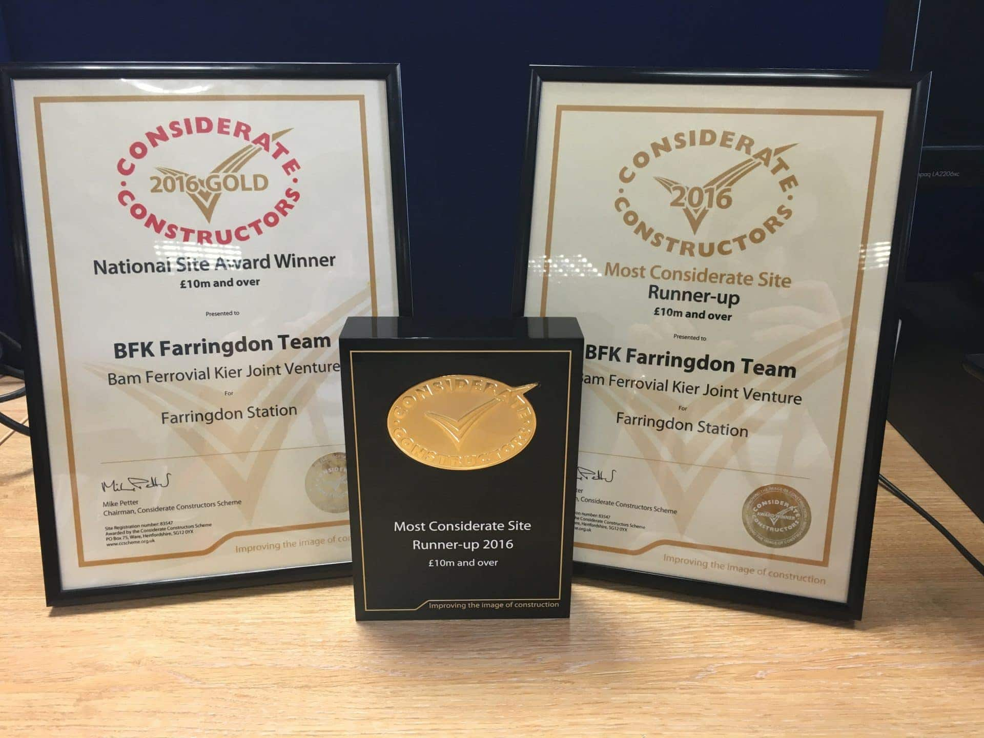 Ferrovial awarded Considerate Constructors prize