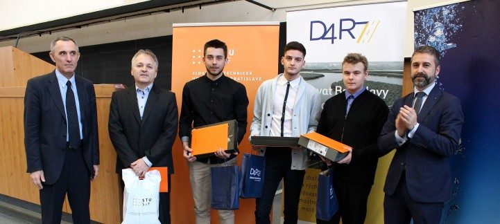 Winners of the 2018 student civil engineering award at the Slovak University of Technology
