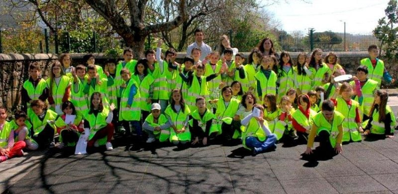 Kids at the Road Safety Training provided by the Norte Litoral Highway