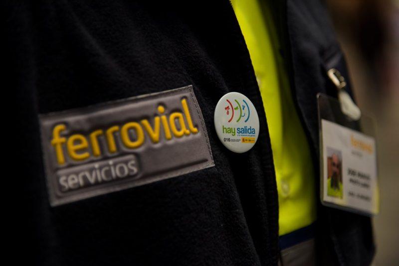 campaña contra la violencia de género en Atocha de Ferrovial