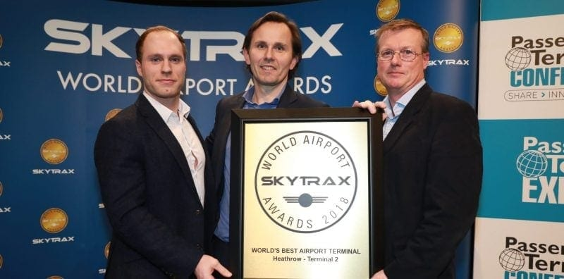Heathrow Terminal 2 Best terminal in the world award