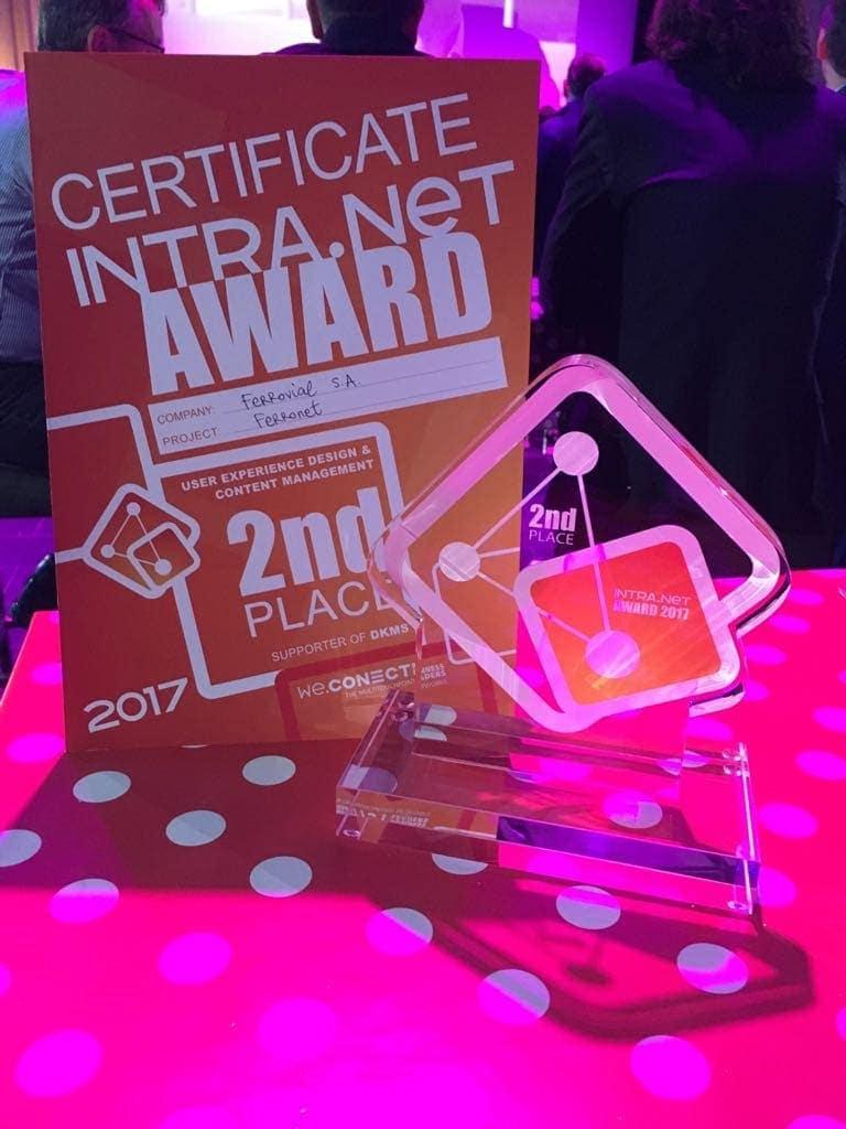La intranet de Ferrovial, galardonada en los premios Intra.NET Reloaded 2017 Sala de Prensa