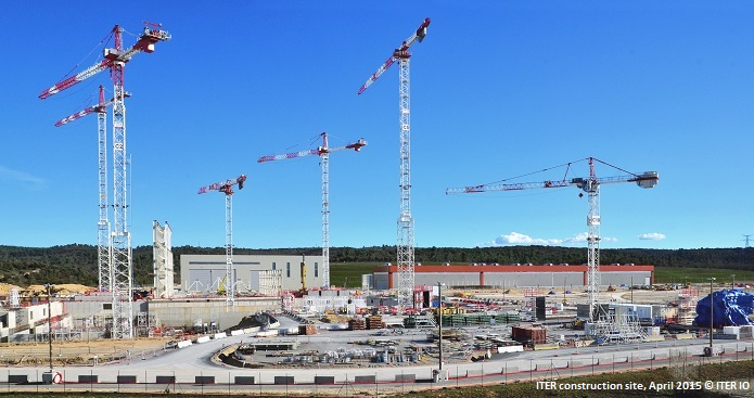ITER construction site, April 2015 © ITER IO