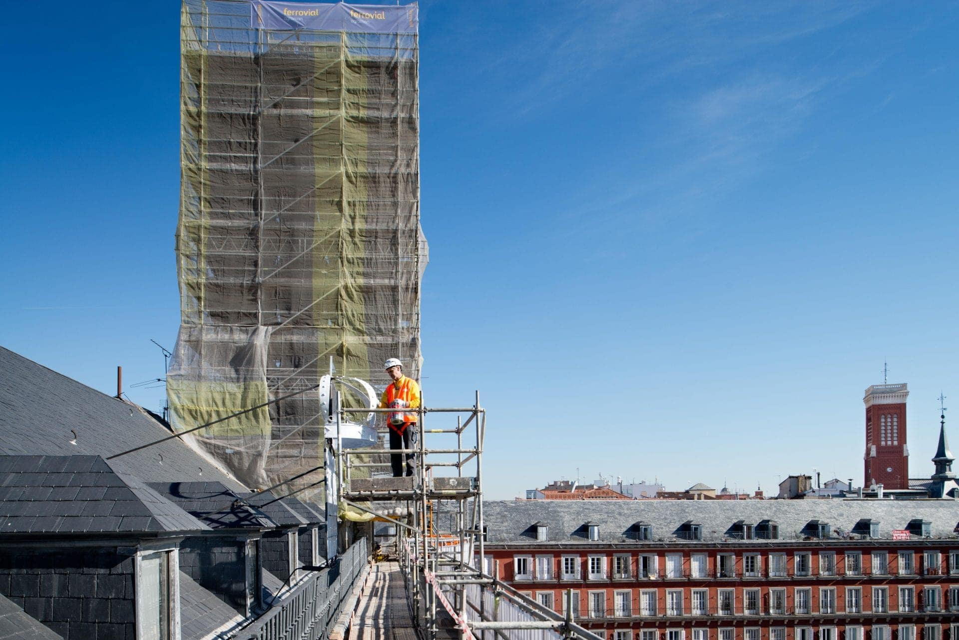 Ferrovial Agroman carried out the refurbishment of Casa de la Panadería, at Madrid's Plaza Mayor (Main Square)