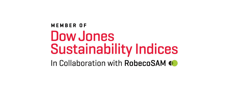 Dow Jones Sustainability index of the most sustainable