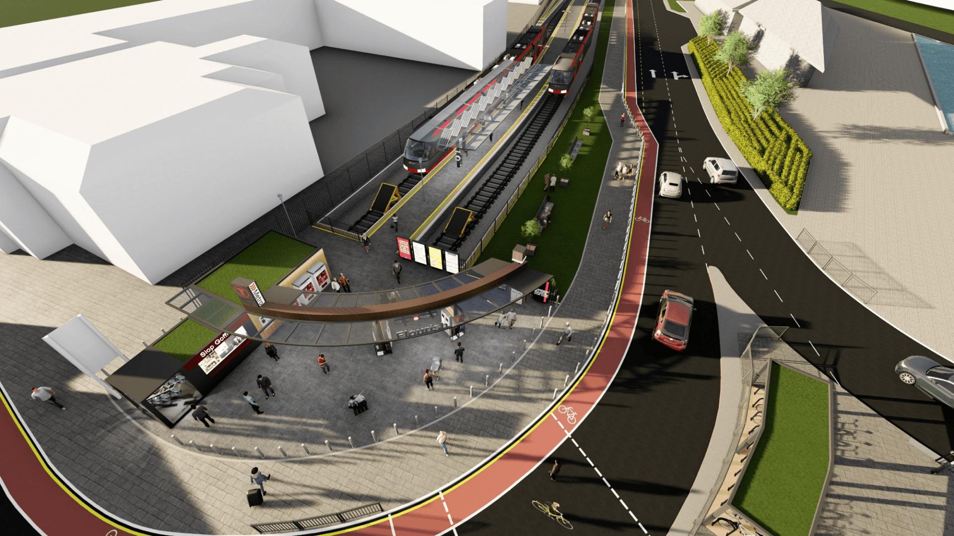 Metro Vehicles terminating at the new Flourish station