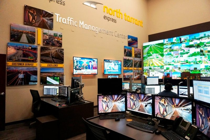 The NTE and LBJ traffic management centre in Texas