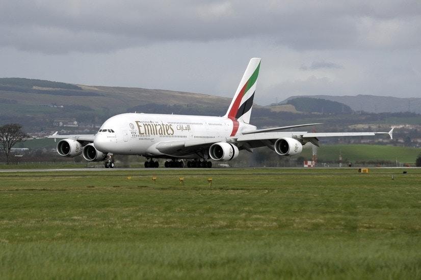 Glasgow Airport Emirates A380
