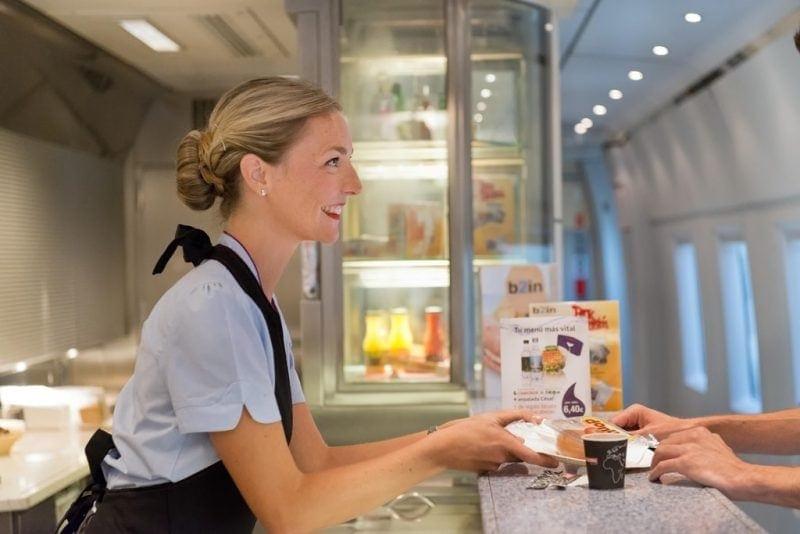 Servicio a bordo B2IN de Ferrovial en Renfe AVE
