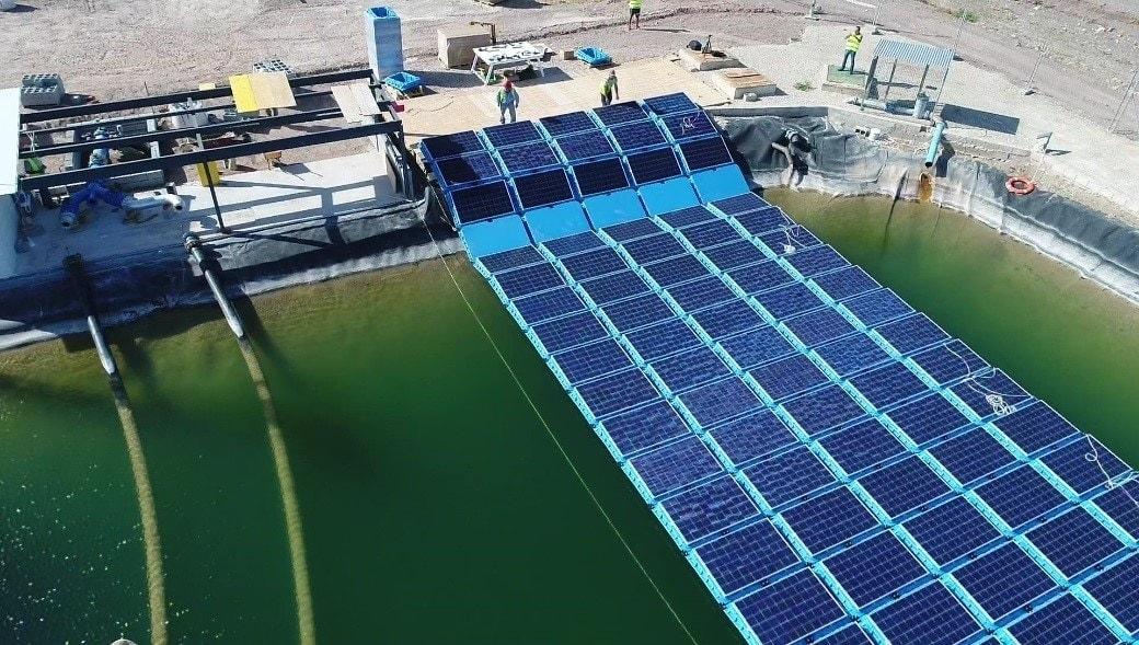 sistema generador fotovoltaico flotante en Murcia