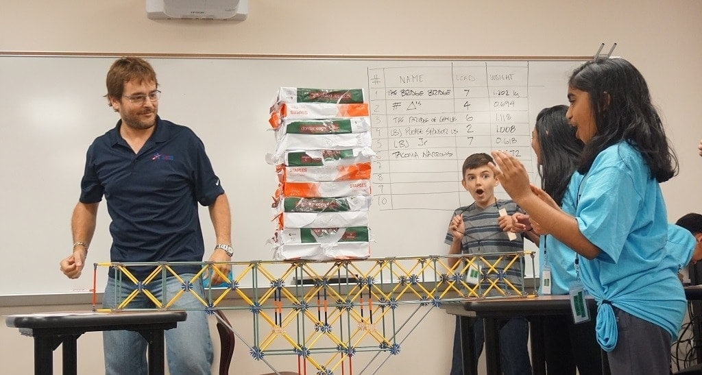 Lbj Express Hosts Bridge Building Competition For Middle School