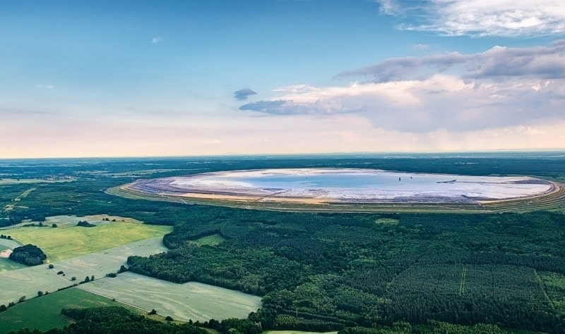 The Zelazny Most tailings facility in Poland