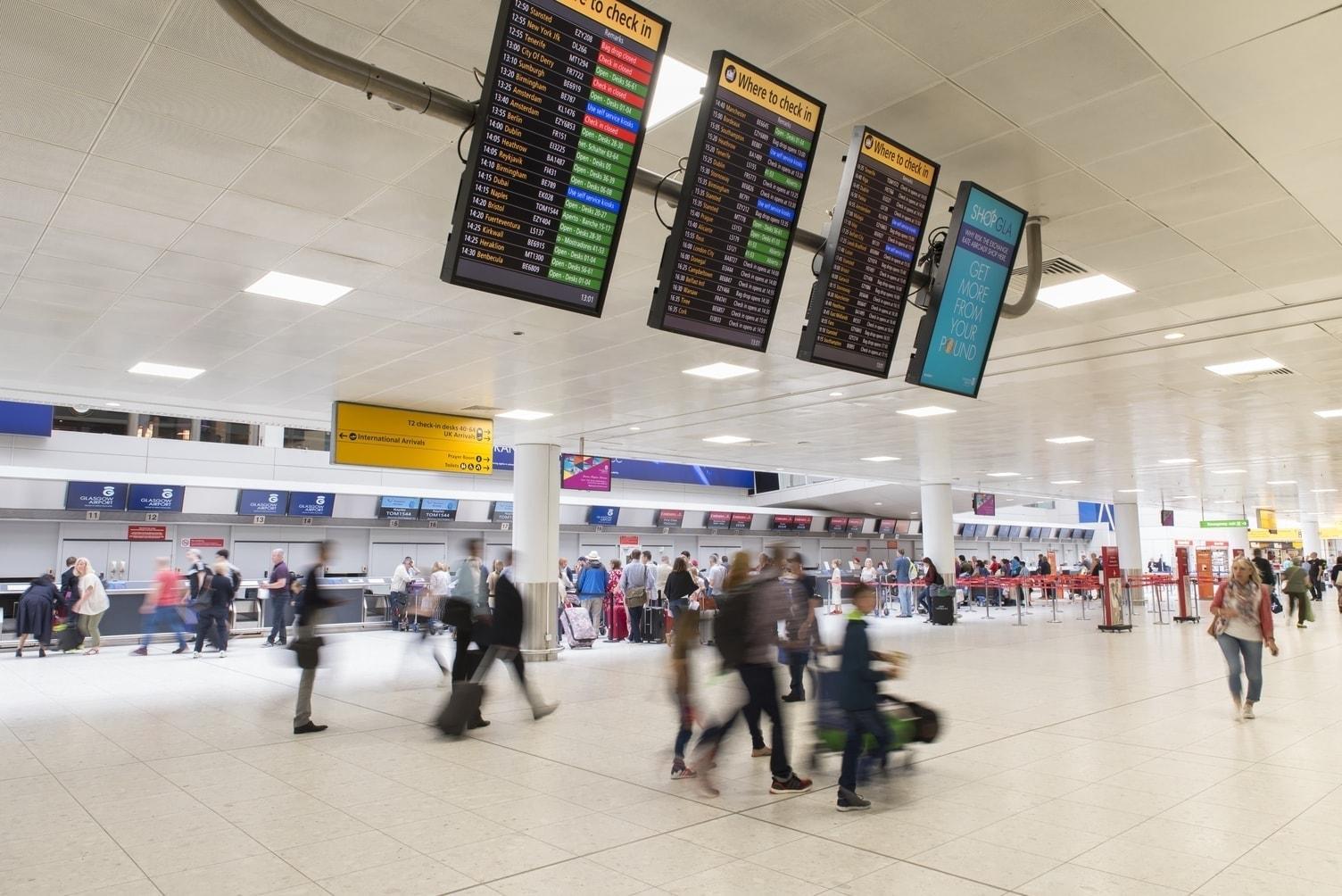 Glasgow airport interior