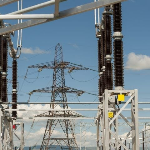 Pylon at electric station