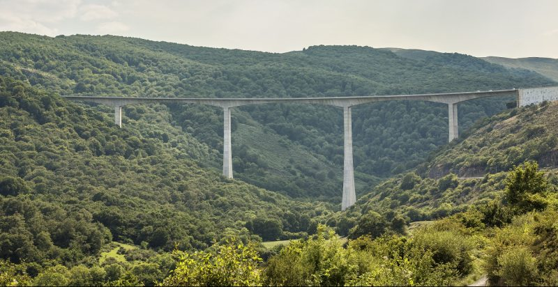 Bridge spans countryside