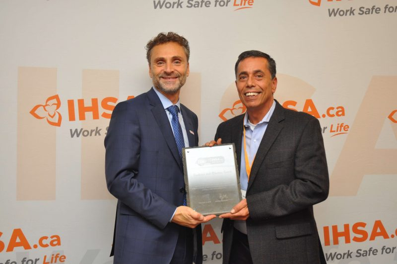 Ferrovial Agroman Canada ISHA award. Paul amaro