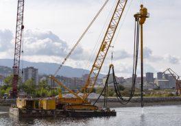 Puente San Ignacio Zorrotzaurre en construccion