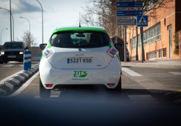 Back of the car. ZITY expands its service area to Alcobendas