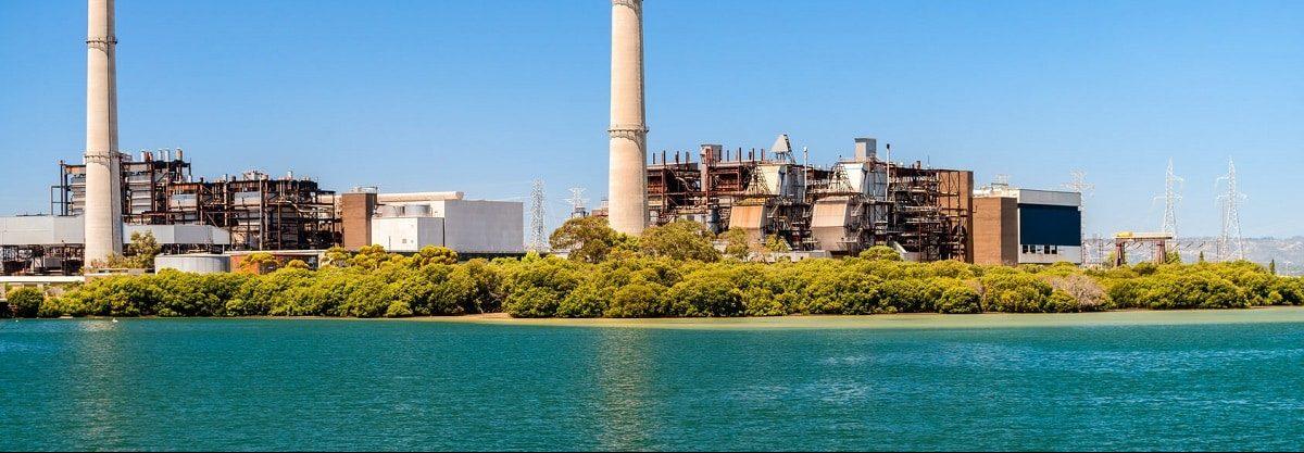 Imagen de una zona de perforación y extracción de gas en australia