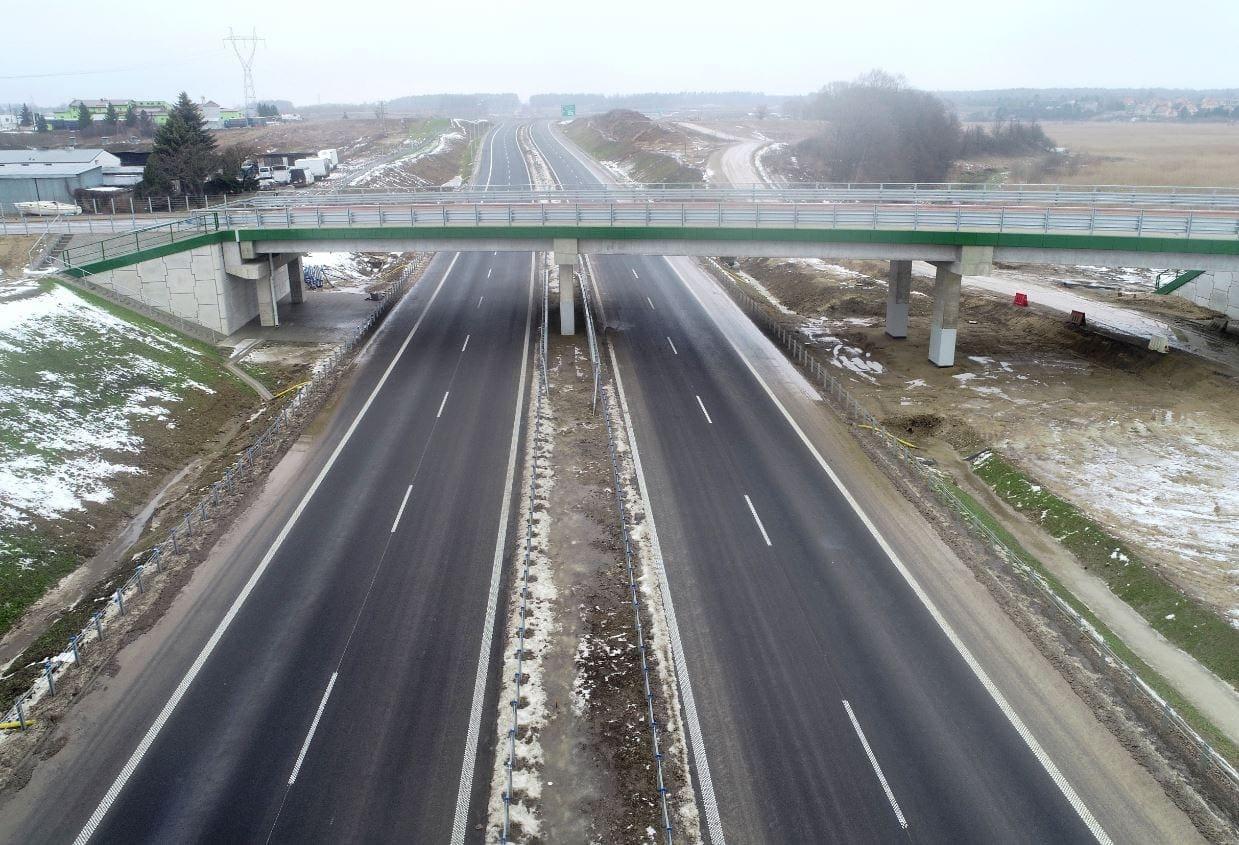 Autopista S51 desde la intersección de Jaroty hasta la de Olsztyn Wschód