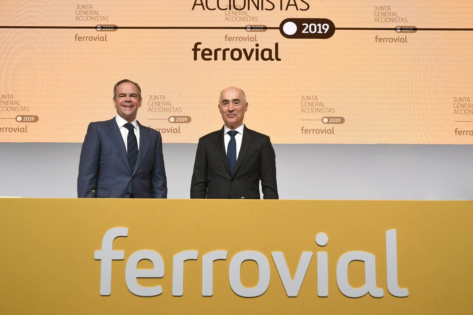 Íñigo Meirás and Rafael del Pino at the Annual Shareholders' Meeting 2019