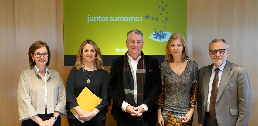 Las ONG elegidas por los empleados firman los convenios de colaboración con Ferrovial