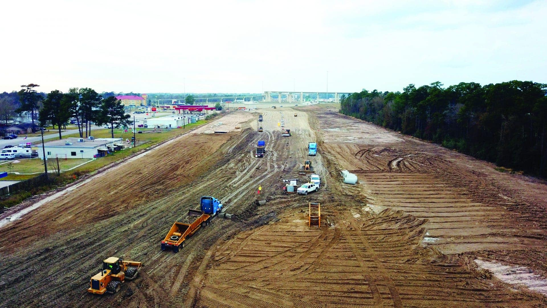 Progress Work for SH 99 Grand Parkway Project near Houston Continues