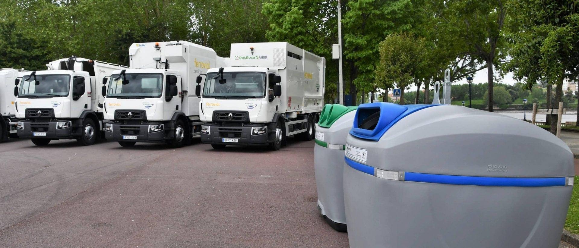 Ferrovial Servicios incorpora diez nuevos vehículos para mejorar la recogida de residuos en los ocho municipios del Consorcio de As Mariñas