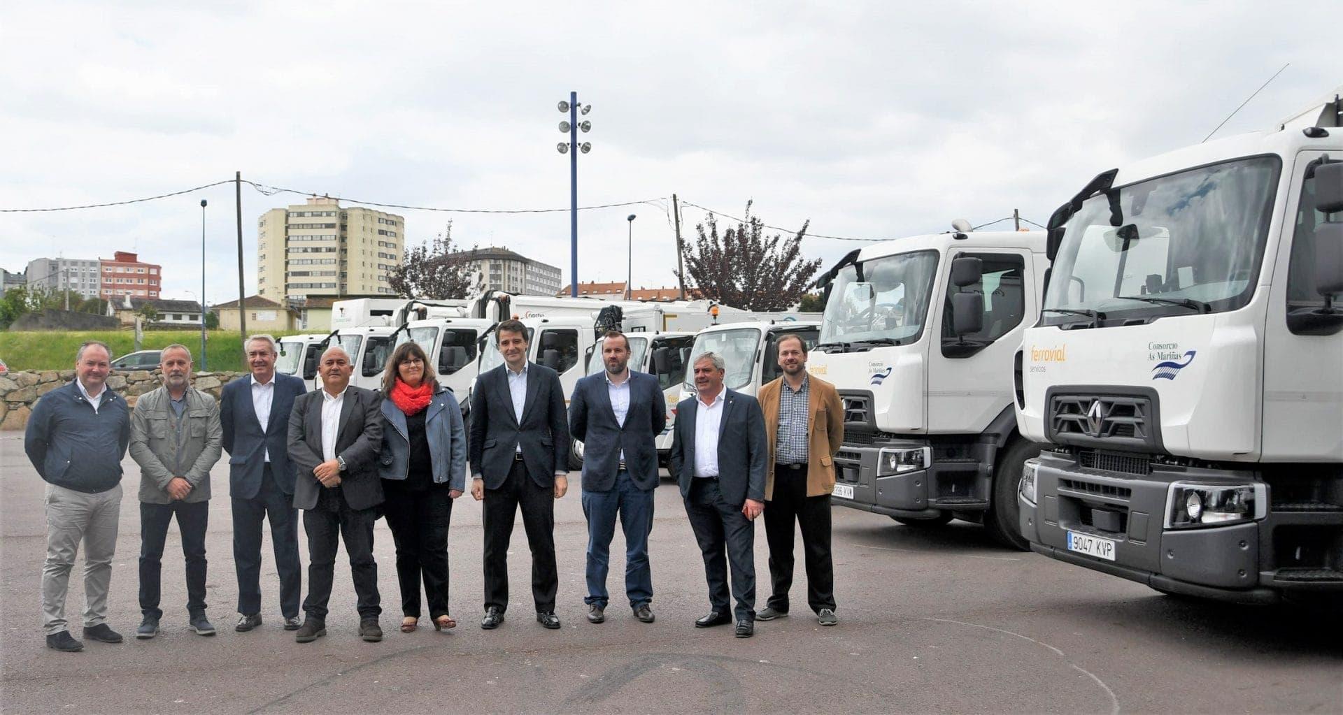 Representatives of Ferrovial Services and As Mariñas Consortium