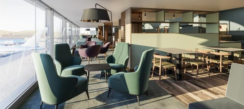 Image of the exclusive new executive lounge Lomond Lounge at Glasgow Airport