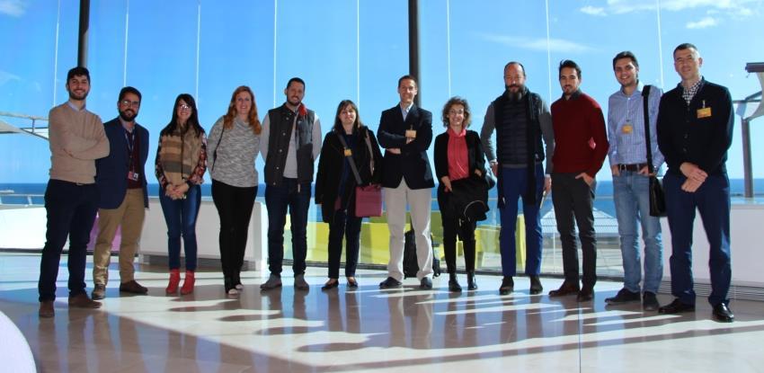 Imagen del departamento de Innovación de Ferrovial Servicios España y la startup gallega Situm