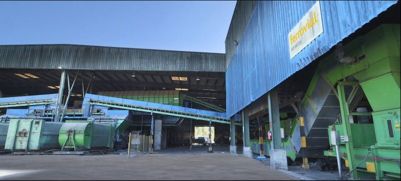 Foto de la planta de secado de lodos