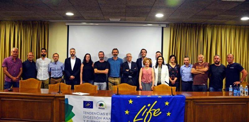 Foto de los participantes en las jornadas LifeSto3re