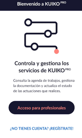 Imagen de una captura de pantalla de la app Kuiko