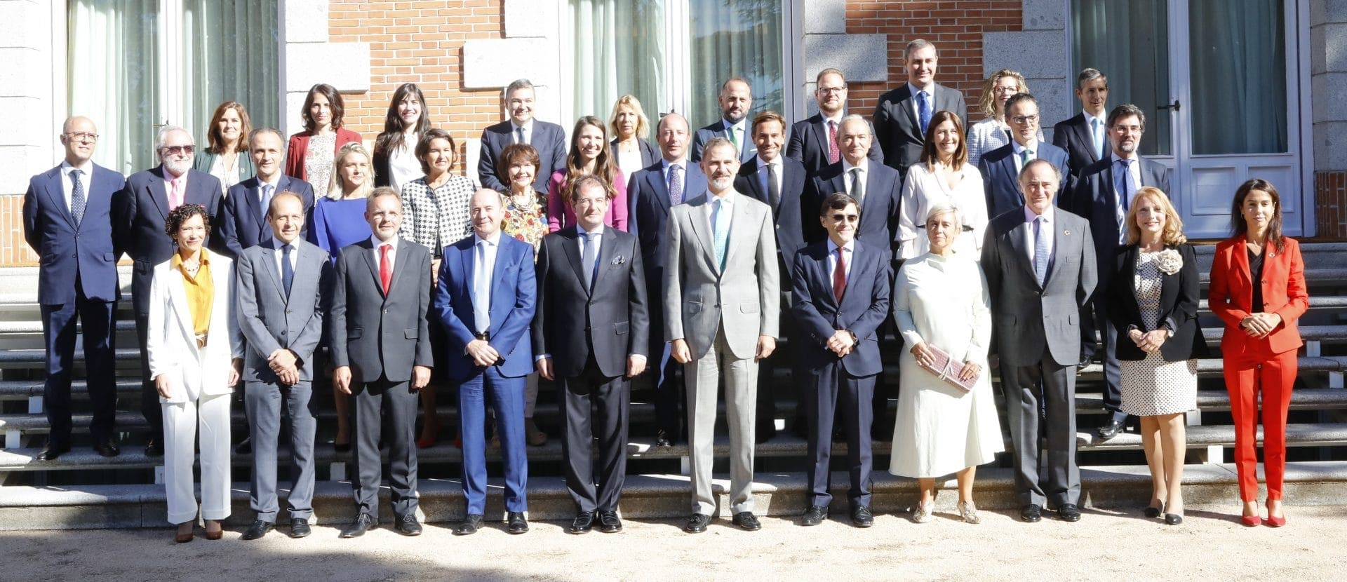 Photo of those attending the royal audience of Foretica with King Felipe VI
