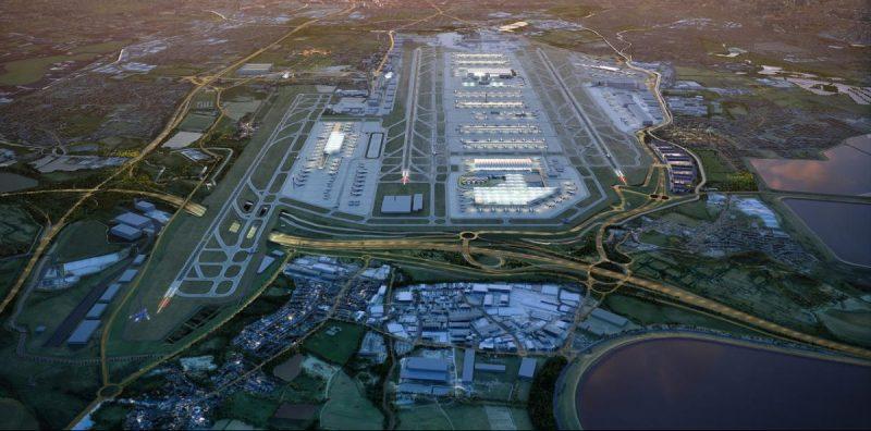 Imagen aérea del aeropuerto de Heathrow