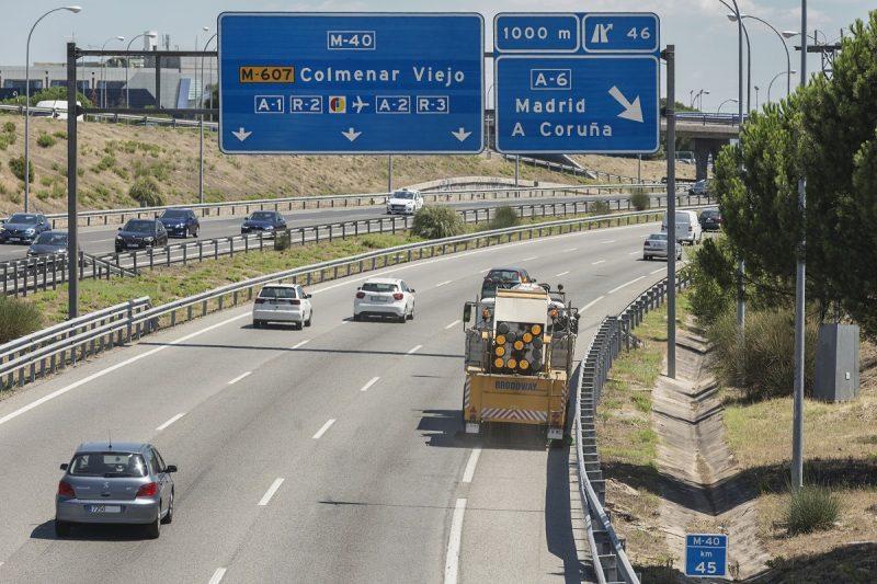 Tramo M40 en Madrid