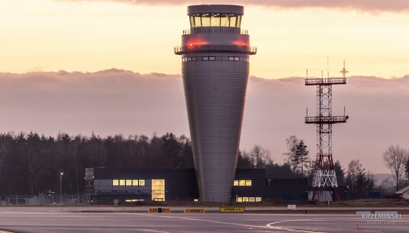 The tallest air traffic control tower in Poland