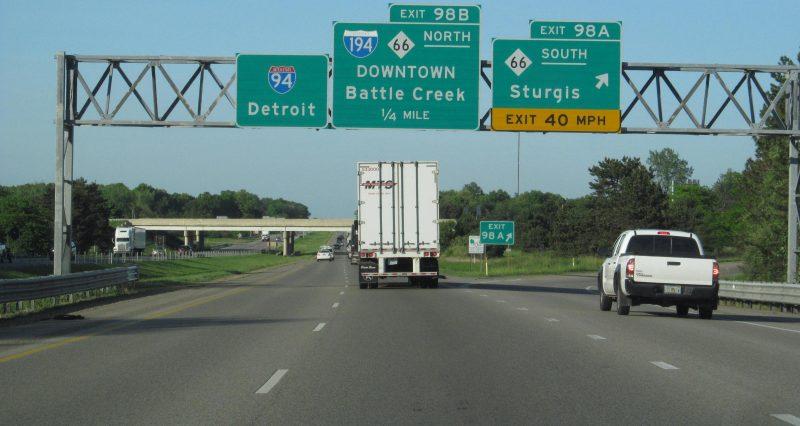 Imagen de una carretera de Michigan